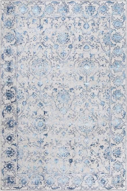 Bloomfield Faint Glimmering Garden Blue Rug Rugs Usa Area Rugs Floral Rug