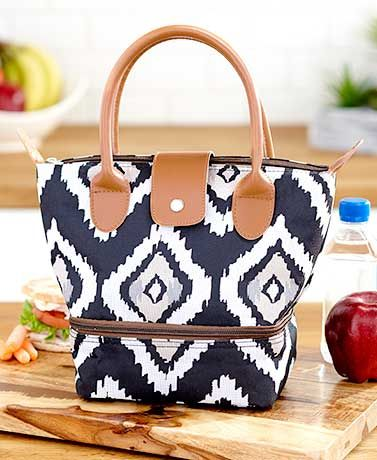 Dual-Compartment Insulated Lunch Totes