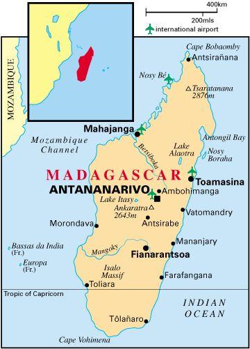 Madagascar Bioclimates Map via Missouri Botanical Garden