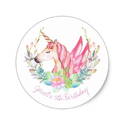 Unicorn Thank You Stickers - party gifts gift ideas diy customize