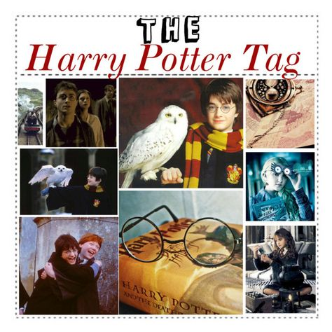 """""""The Harry Potter Tag"""" by hermoinesinger ❤ liked on Polyvore featuring art, fans and tipsbyjojo"""