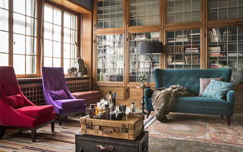 Bohme Living Wohnzimmer Einrichtung Stil Farben Und Muster Werden Wild Gemixt