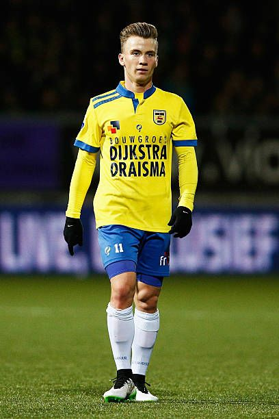 Albert Rusnak Of Cambuur In Action During The Dutch Eredivisie Match Between Sc Cambuur And Pec Zwolle At Cambuur Stadion On December 20 2014 In Fotografia