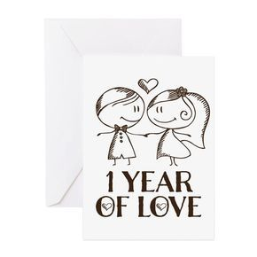 1st Anniversary Couple Line Drawing Greeting Card 1st Anniversary Couple Line Drawing Greeting Cards By Homewiseshopper Cafepress Anniversary Greeting Cards Anniversary Cards For Couple 1st Anniversary Cards
