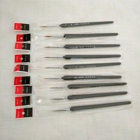 5pcs High Quality Miniature Paint Detail Brush Set for Oil Painting