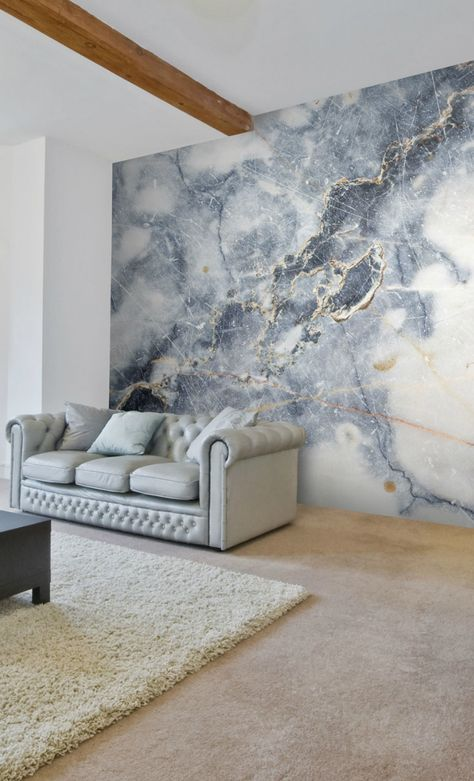 This stunning white marble wallpaper will create the luxurious look of marble walling in your home.