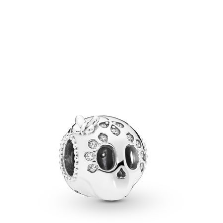 Sparkling Skull Charm | Silver Charms in 2021 | Sterling silver ...