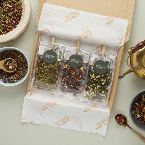 Spices Packaging, Tea Packaging, Beauty Packaging, Tea Gift Baskets, Sailor Party, Gift Subscription Boxes, Dragon Tea, Gift Box Design, Meditation Gifts