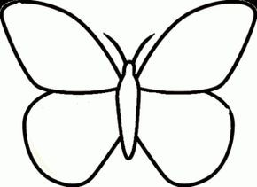 Butterfly Coloring Pages For Kids Preschool And Kindergarten Butterfly Coloring Page Butterfly Template Butterfly Outline