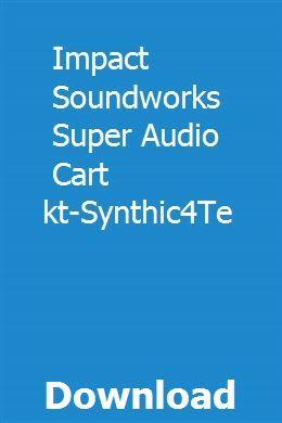 Impact Soundworks Super Audio Cart Kontakt-Synthic4Te