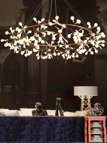 Heracleum Ring Mid Century Modern Lighting Chandeliers Mid