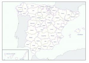 Mapa Politico España Provincias Con Nombre Mapa Politico Mapa Fisico Mapas