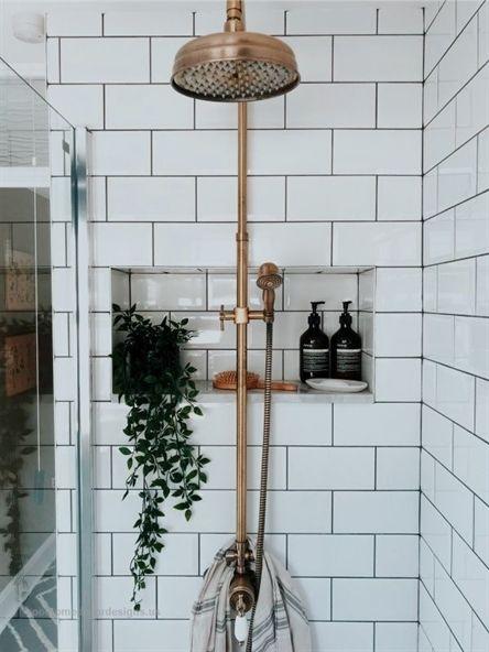 Pin By Rachel Unseth On Midcentury Modern Bathroom Shelf Decor Bedroom Affordable Interiors Bathroom Decor
