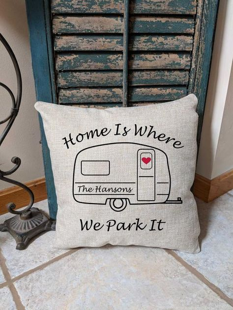 Personalized Travel Pillow Motor Home