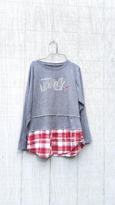 Nyc New York Stylish Upcycled Boho Romantic Tunic Upcycled Refashion Clothes Upcycle Clothes Redo Clothes