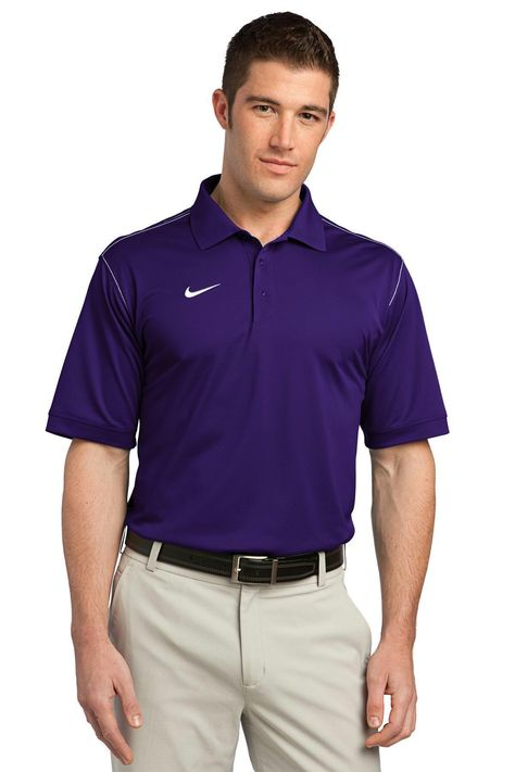 Nike Golf Dri-FIT Sport Swoosh Pique Polo. 443119 Blue Sapphire / XS