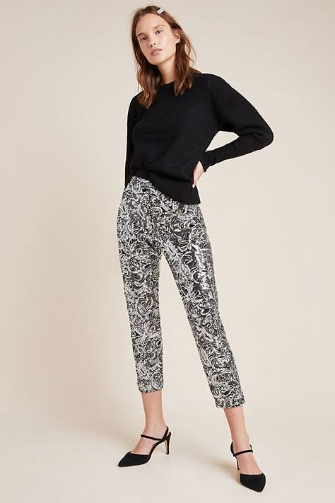 Annette Sequined Trousers   Anthropologie