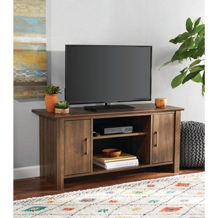 Free Shipping Buy Mainstays Tv Stand For Flat Screen Tvs Up To 47 Multiple Finishes At Walmart Flat Screen Tv