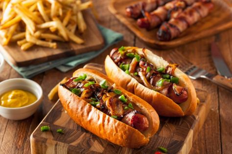 How To Make Bacon Wrapped Hot Dogs MAN'S BLACK BOOK