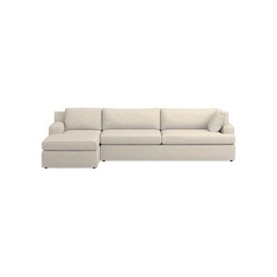 Greenwich Sectional L 2pc L Sofa W Chaise Stnd Performance Cross Weave Malt L Shaped Sofa Sectional Sofa Sofa Pillows