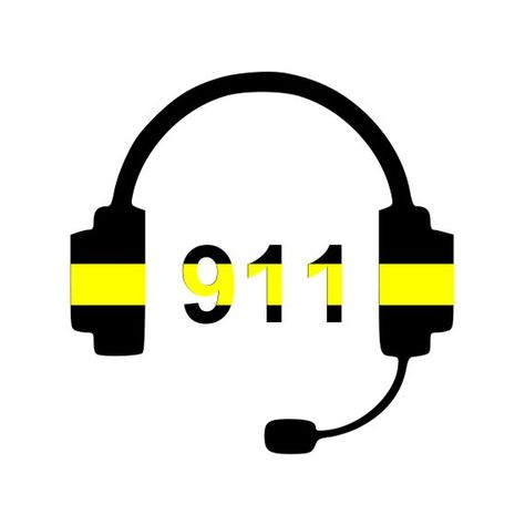 911 Dispatcher Decal, Thin Gold Line, Dispatcher Gift
