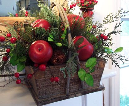 Table Centerpieces With Red Apples
