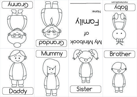 Cut And Paste Kids Family Worksheets Primary Pinterest