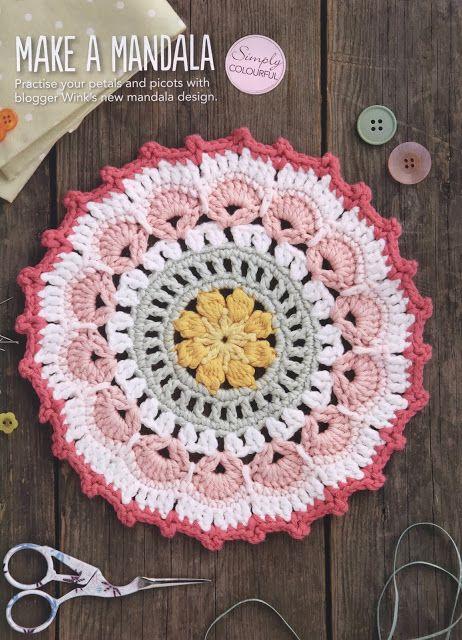 Crochet - Mandala - Free pattern - Printed
