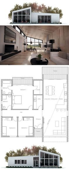 Planta de Casa home design Pinterest Architecture, House and