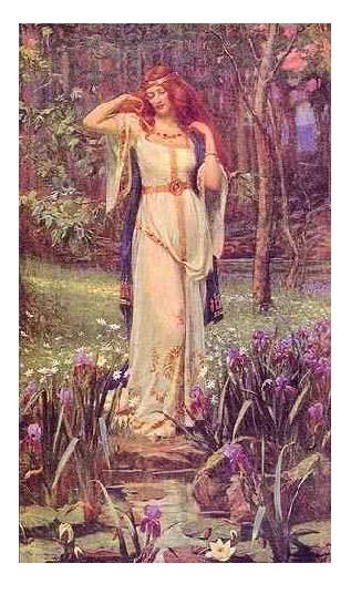 """Danu : Mother Goddess and Earth Goddess.   Alternate names: Ana, Anu, Anann (""""wealth, abundance"""").    Danu is the oldest Celtic Goddess, known also as Don and Anu. Her influence spread far across the British Isles and Europe."""