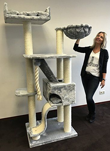 Cat Tree For Large Cats Cat Mansion Light Grey 71 Inch 108 Lbs 5 Inch O Poles Total Size 71x29x23 Inch Cat Scratcher Cat Tree Cat Mansion Cat Scratcher