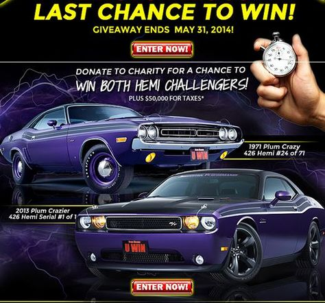 Ends 5/31/2014! Get DOUBLE TICKETS NOW! Use Promo Code:TP20141 at: http://www.dreamgiveaway.com/dg/challenger  Help kids charities!