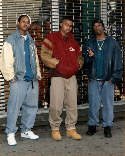big l with funny friend and nas (the king)