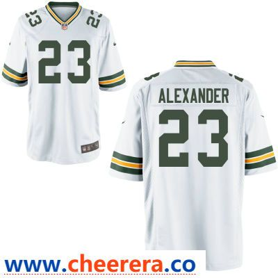 best sneakers 035ad a95f8 Men's Green Bay Packers #23 Jaire Alexander White Road ...