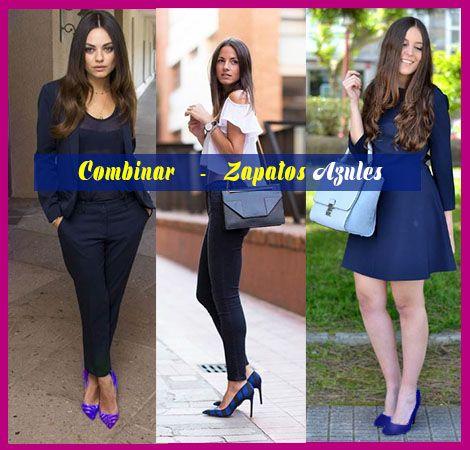 Zapatos Azules Outfit Ideas Para Como Combinar Zapatos Azules Como Combinar Zapatos Azules Zapatos Azules Tacones Azules
