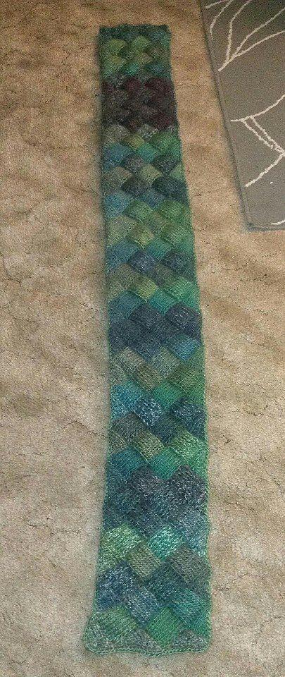 Emerald Entrelac Scarf Knitting Free Patterns For Entrelac