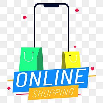 Compras En Linea Ilustracion Vectorial Imagen Png Elemento Del Marco Del Telefono Shop Logo Design Shop Logo Online Logo