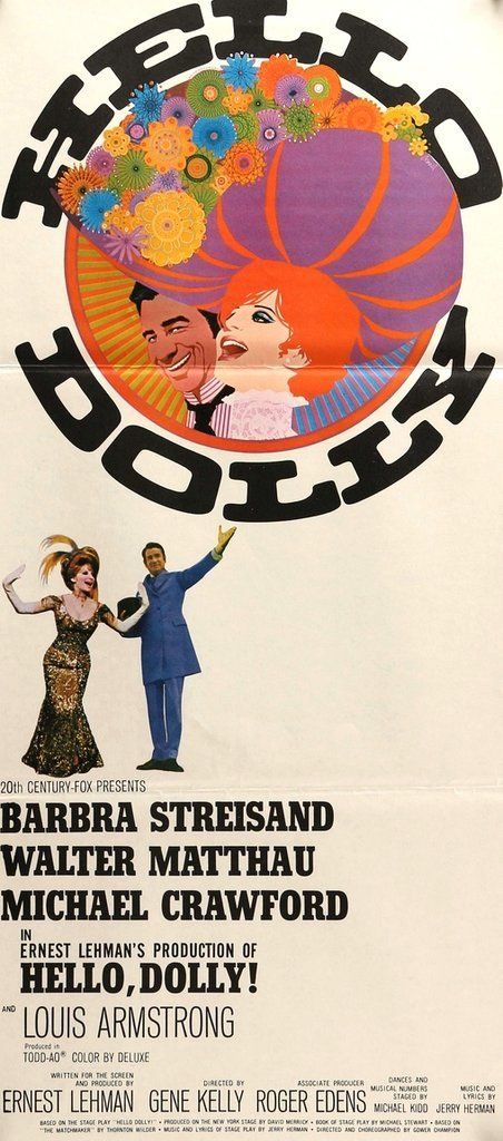 hello dolly 1969 broadway posters