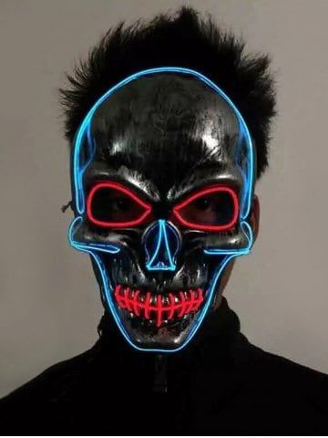 Luminous Horrible Skull Full Face Party Mask | Mask party