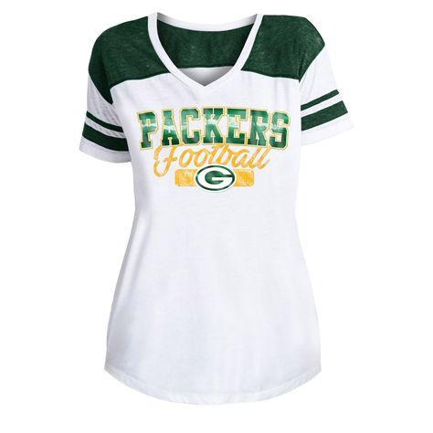 Women S New Era Green Bay Packers Burnout Tee Burnout Tee Green Bay Packers Tees