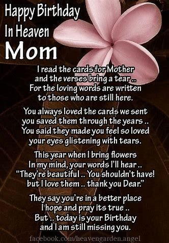 Image Result For Happy Birthday In Heaven Mom Happybirthdayquotes Birthday In Heaven Mom Birthday In Heaven Happy Birthday In Heaven