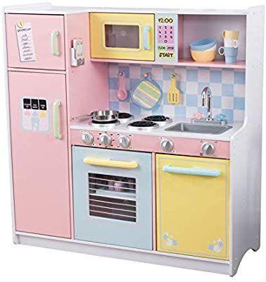 Amazon Com Kidkraft Large Kitchen Toys Games Wooden Play Kitchen Pastel Kitchen Kidkraft Kitchen