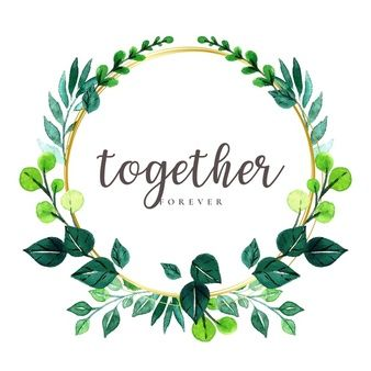 Download Watercolor Leaves Wreath For Free In 2020 Watercolor