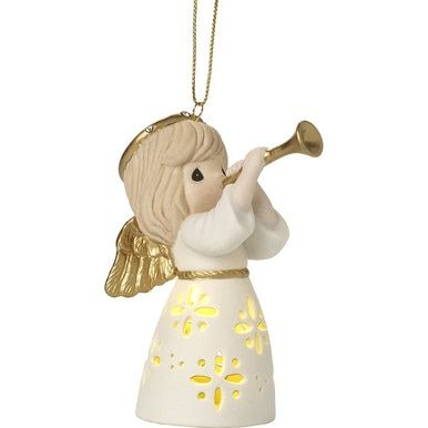Precious Moments Christmas Lights 2020 Make Music From The Heart, Lighted Bisque Porcelain Ornament in