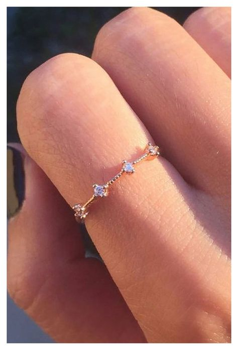 Cute Promise Rings, Cute Rings, Unique Rings, Beautiful Rings, Small Rings, Promise Ring For Girls, Simple Silver Rings, Small Wedding Rings, Matching Promise Rings