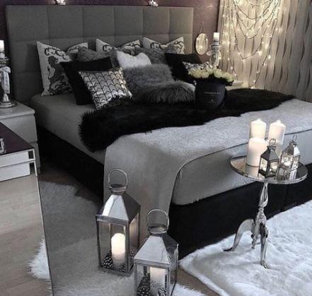 25 Trendy Ideas Bedroom Grey Black Silver Black Bedroom Decor Black And Grey Bedroom White Bedroom Decor