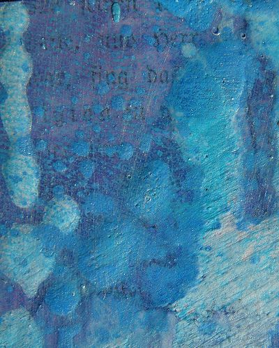 Blue and Purple Mixed Media