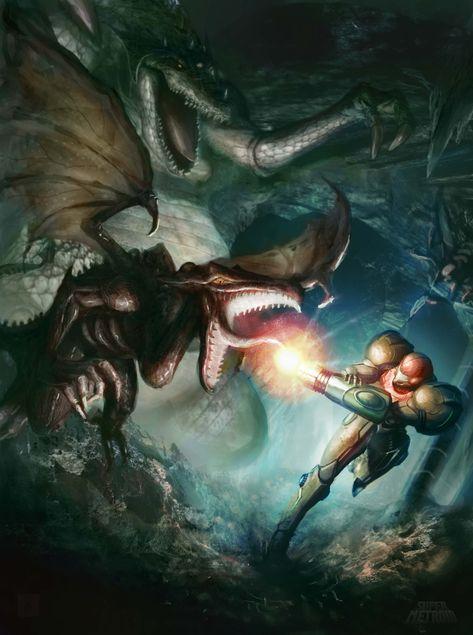 Tags: Metroid, Samus Aran, Kraid, Ridley, Digitaltofu