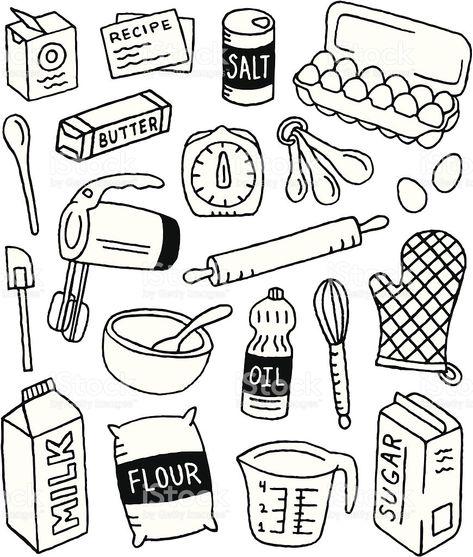 Fournitures de cuisine Sketchy Doodles, Bullet journals and Bullet