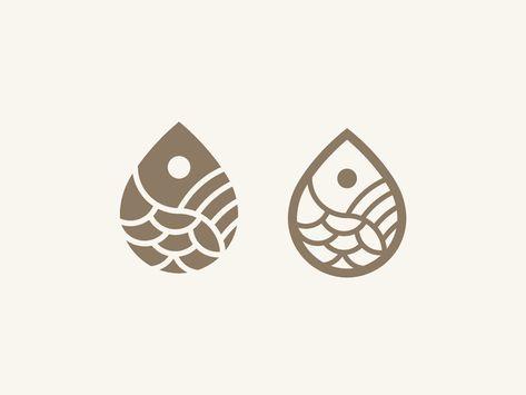 Fish Drop Logo by Dusuacangmong